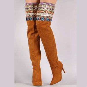 New Women Anne Michelle Vegan Suede Pointy Boots